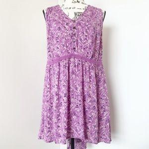 Torrid Purple Floral Boho Dress/Tunic